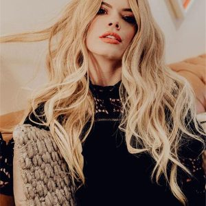 Long Wavy Human Hair Lace Front Wig Hand-tied For Women