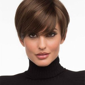 Short Synthetic Wig Mono Part For Women