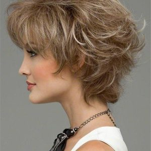 Wavy Straight Human Hair Blend Synthetic Wig Hand-tied For Women