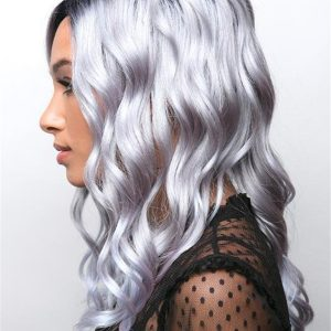 Colored Long Curly Synthetic Lace Front Wig For Women