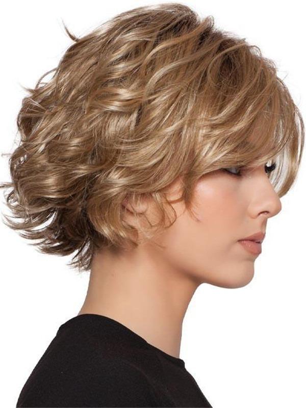 Wavy Brunette Synthetic Wig For Women