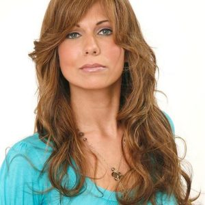 Long Wavy Human Hair Lace Front Wig Mono Top For Women