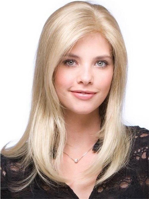 Long Mono TP Synthetic Hair Topper Half