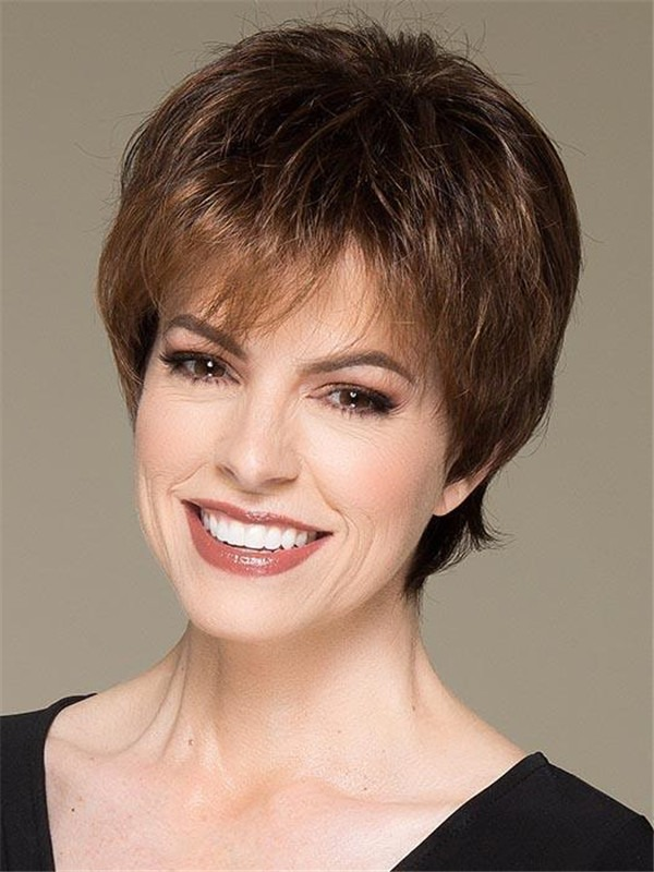 Short Straight Synthetic Lace Front Wig