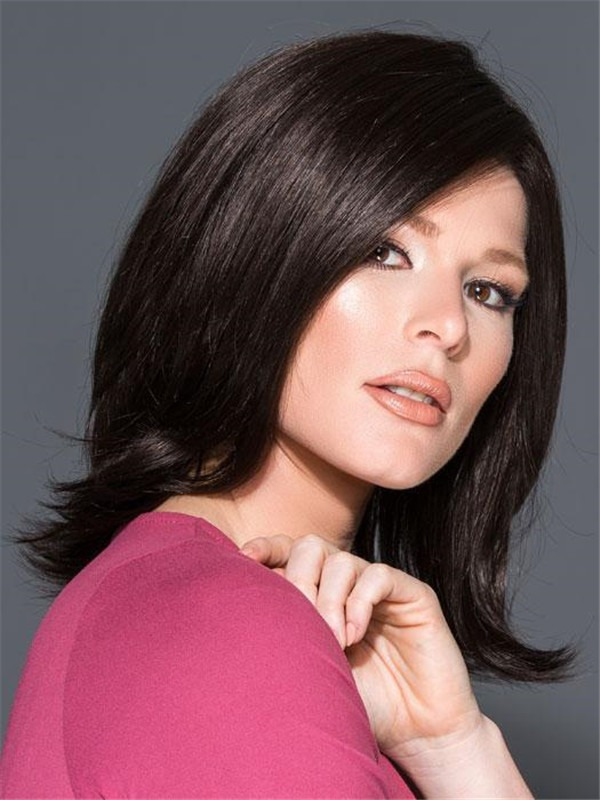 Mid-length Marion Synthetic Lace Front Wig Rooted For Women
