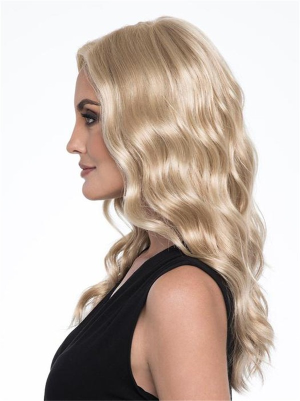 Long Wavy Synthetic Lace Front Wig Mono Top For Women