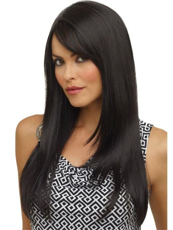 Long Synthetic Wig Mono Part For Women