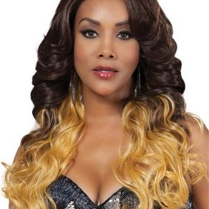 Long Curly HF Synthetic Lace Front Wig Basic Cap