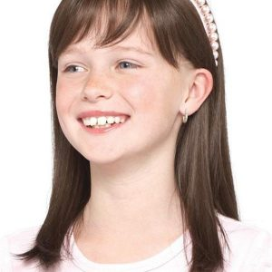 Kids Synthetic Lace Front Wig Mono Top