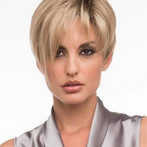 Short Straight Synthetic Wig Mono Part For Women
