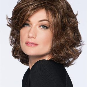 Mid-length Wavy Hf Synthetic Wig Basic Cap