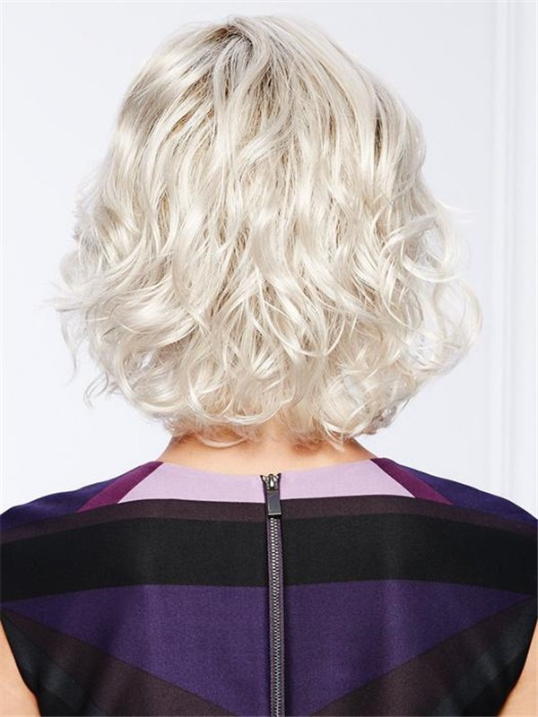 Curly Short Synthetic Lace Front Wig For Women