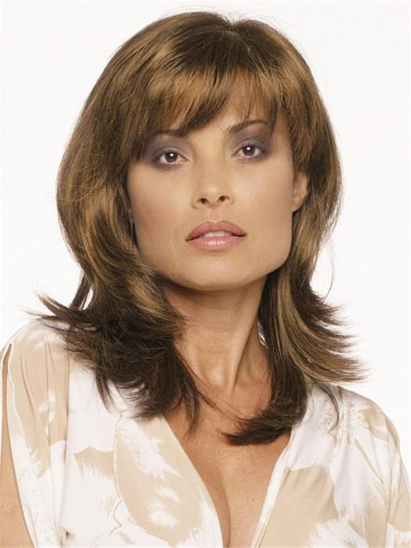 Mid-length Petite Synthetic Wig Rooted For Women