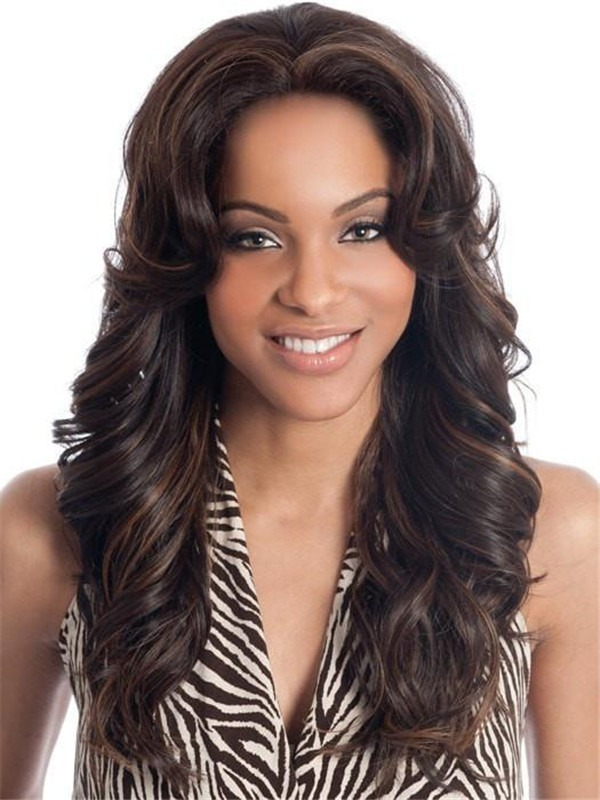 Long Napoli Synthetic Lace Front Wig Basic Cap For Women
