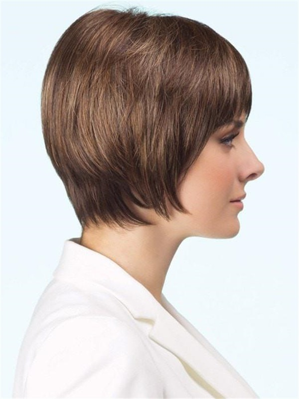 Short Straight Natasha Synthetic Wig Rooted For Women