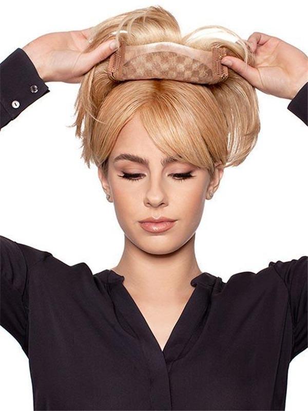 Natural Human Hair Lace Front Top Piece Half Falls