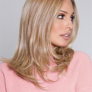 Mid-length Hf Synthetic Lace Front Wig Mono Part For Women