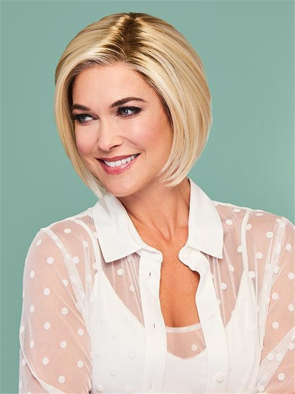 Lace Front Straight Synthetic Lace Front Wig Mono Part For Women