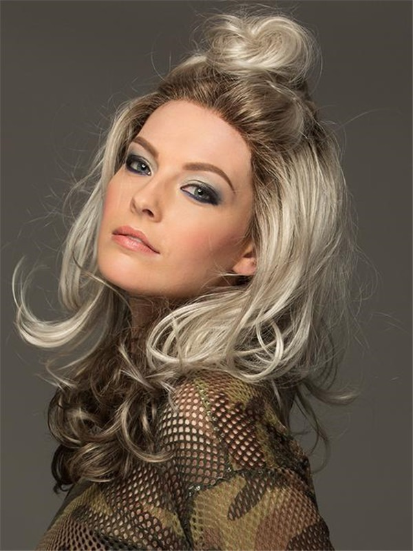 Long Orchid Synthetic Lace Front Wig Wavy For Women