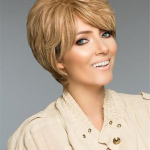 Curly Short Human Hair Wig Mono Top For Women