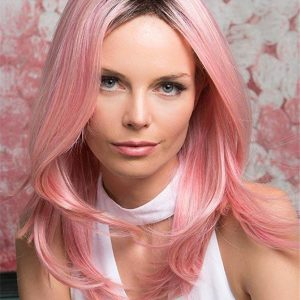 Long Straight Pinky Synthetic Wig Basic Cap For Women