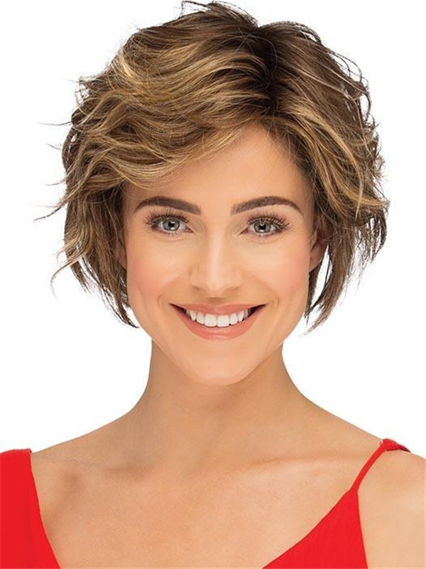 Short Wavy Synthetic Lace Front Wig For Women