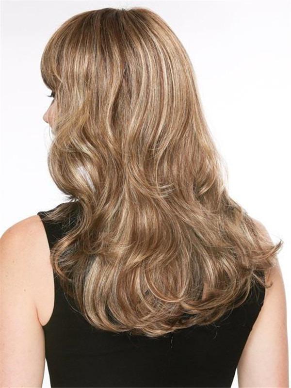 Wavy Pretty Long Synthetic Wig Mono Crown