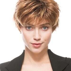 Short Pixie Short Synthetic Wig Basic Cap For Women