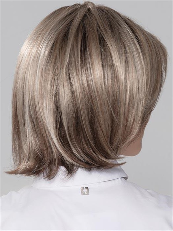 Short Straight Synthetic Lace Front Wig Hand-tied For Women