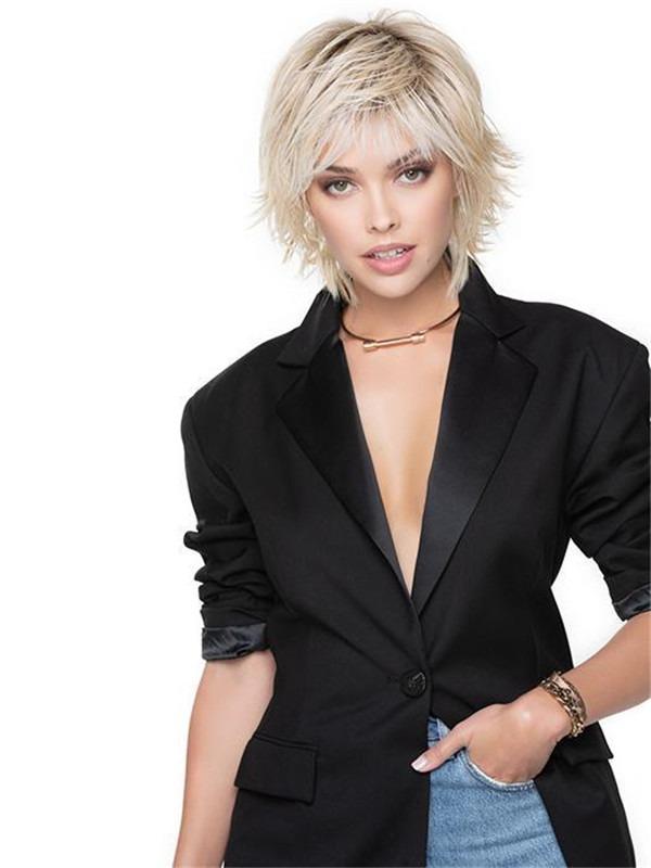 Short Cut Shag Hf Synthetic Wig Basic Cap For Women