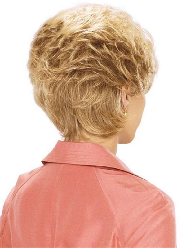 Short Synthetic Wig Basic Cap Wavy For Women