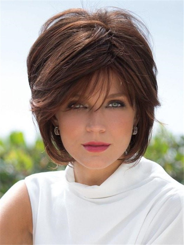 Short Gradient Synthetic Wig Basic Cap For Women