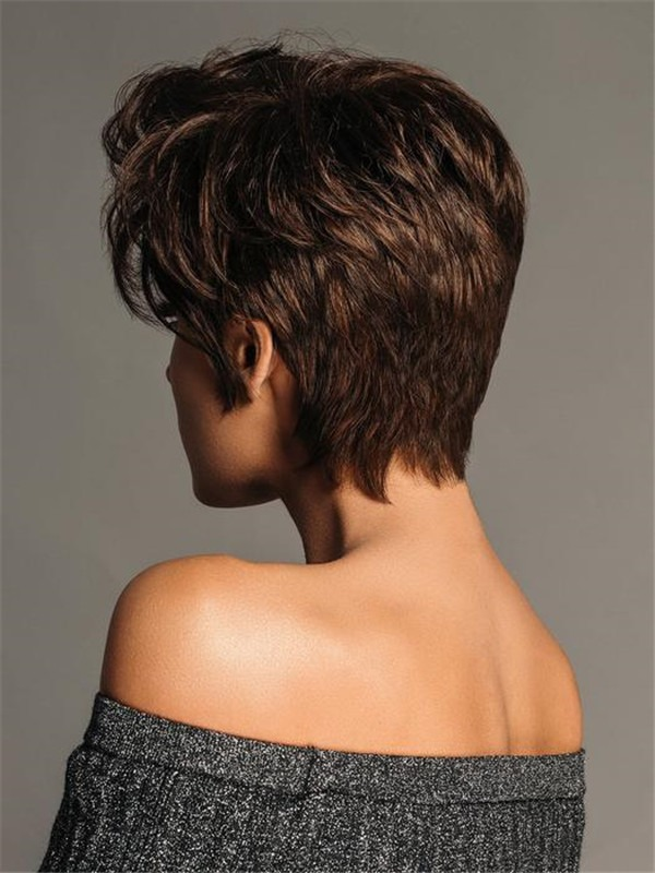 Pixie Synthetic Lace Front Wig Basic Cap For Women
