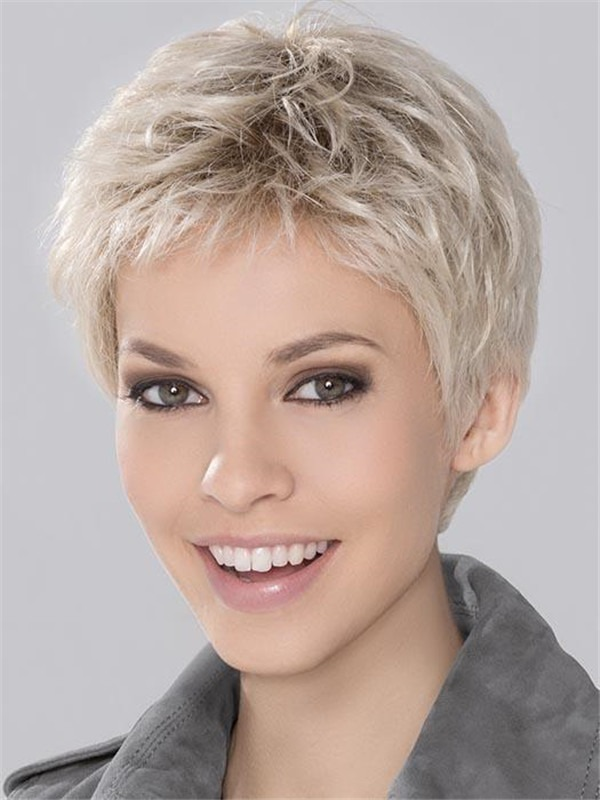Short Synthetic Lace Front Wig Monofilament For Women