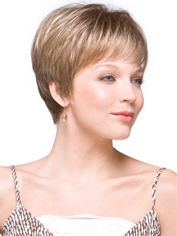 Pixie Straight Synthetic Wig Basic Cap For Women