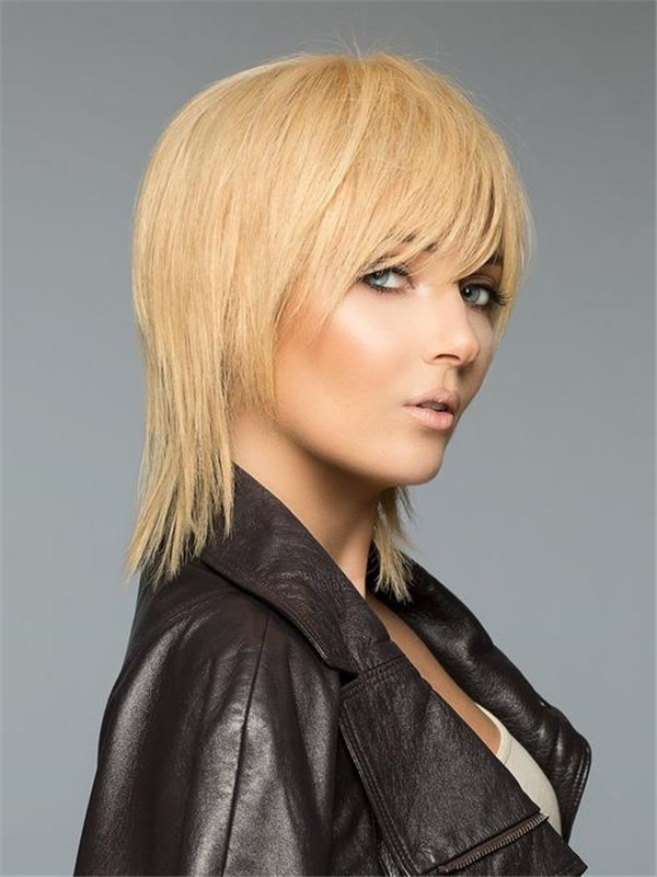 Short Straight Savvy Human Hair Wig For Women