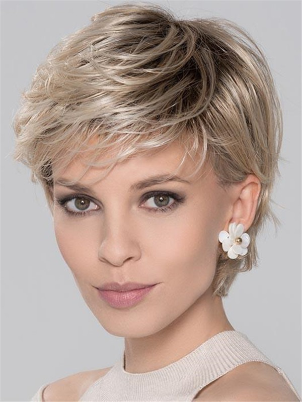 Short Rooted Score Synthetic Wig For Women