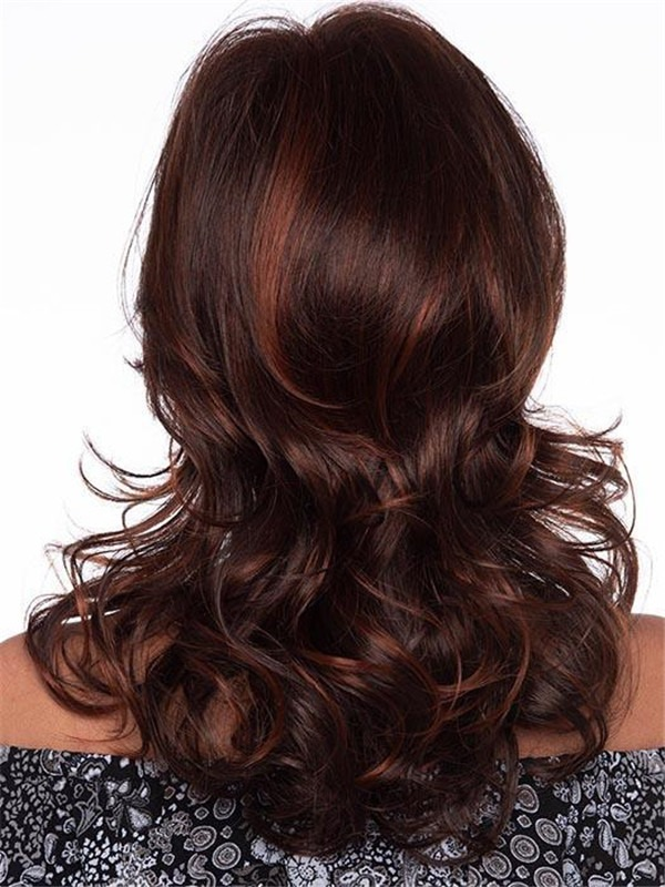 Curly Human Hair Synthetic Blend Wig For Women