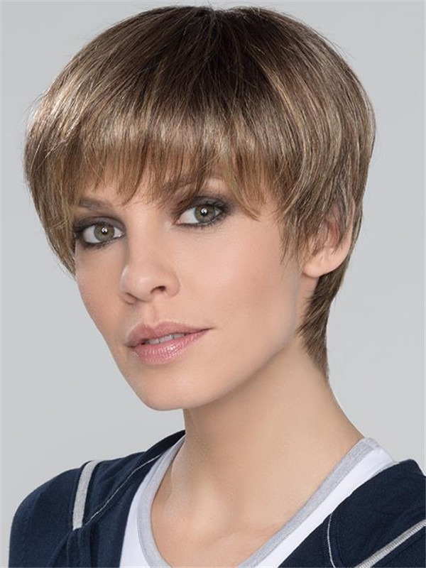 Short Super Synthetic Wig Rooted Monofilament For Women
