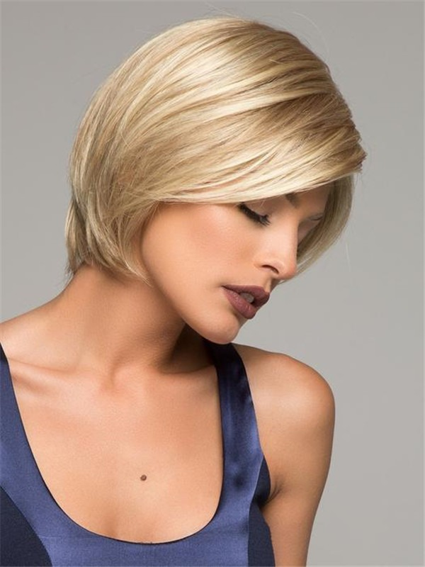 Straight Synthetic Lace Front Wig Hand-tied For Women