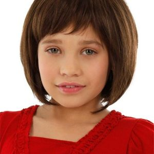 Kids Synthetic Wig Mono Part