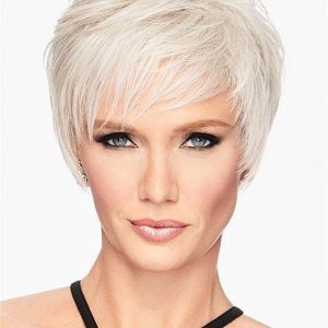 Short Layered Straight Hf Synthetic Wig Basic Cap For Women