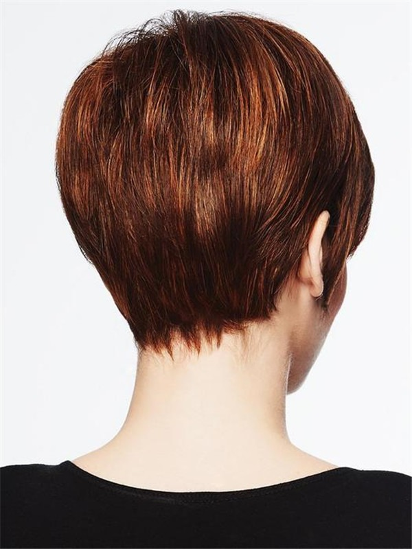 Short Textured Pixie Synthetic Wig Basic Cap For Women