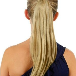 "18"" Simply Straight Pony Synthetic Ponytail Wraps"