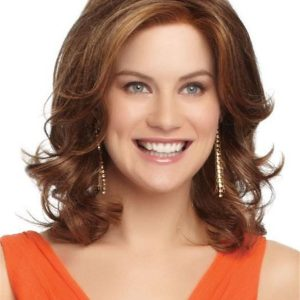 Curly Synthetic Lace Front Wig Mono Part For Women