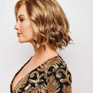 Curly Petite Average Synthetic Lace Front Wig Mono Part