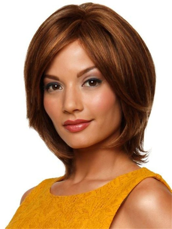 Straight Human Hair Lace Front Wig Hand-tied For Women