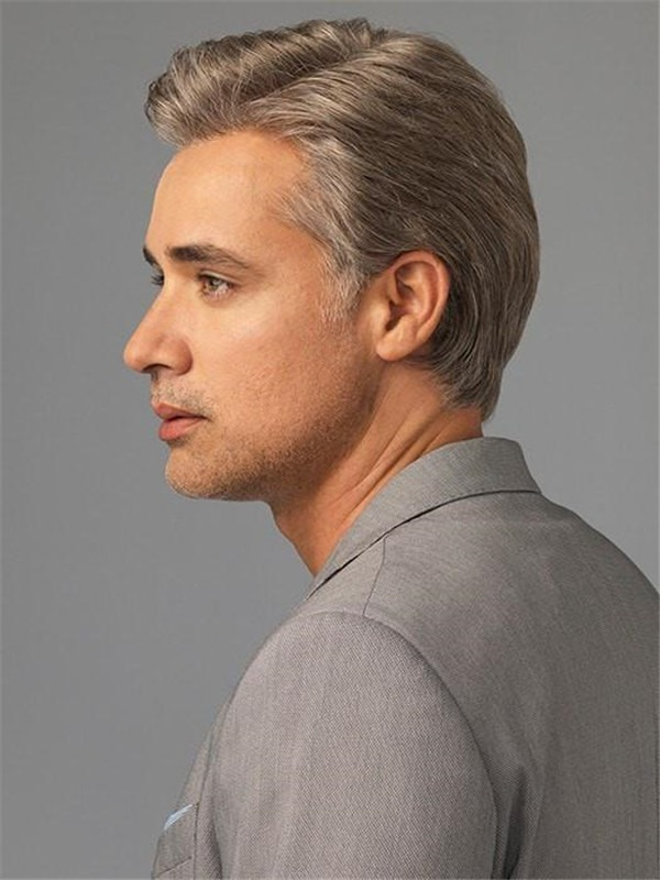 Synthetic Lace Front Wig Monofilament For Men