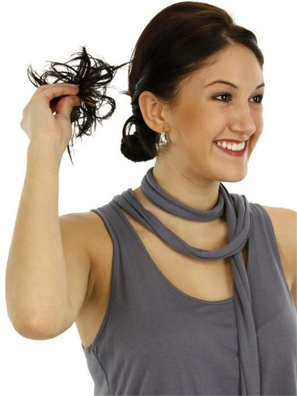 Spiky Clip Synthetic Hair Wrap All Hairpieces