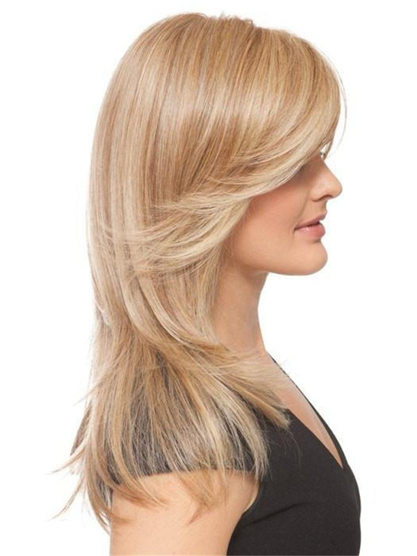 Long Straight HF Synthetic Lace Front Wig Hand-Tied
